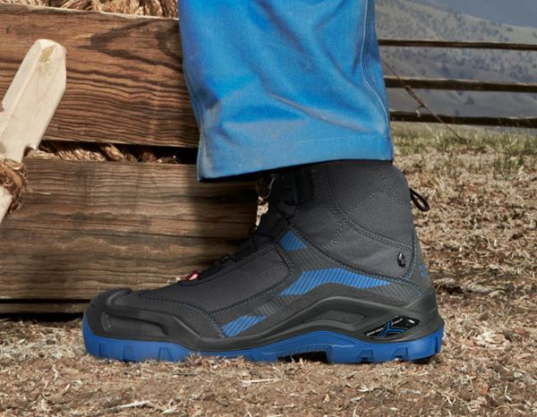 S3: e.s. S3 Safety boots Kastra mid + titanium/gentian blue 1
