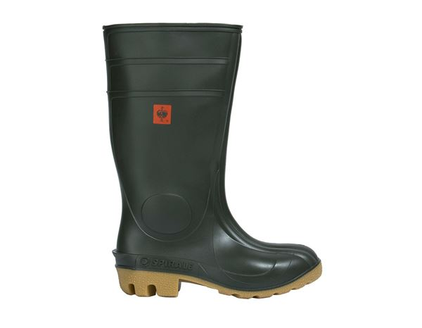 Safety Wellingtons S5: S5 Safety boots Farmer + olive