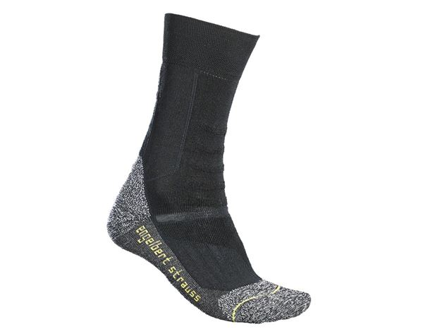 Funktionssocken: e.s. Allround Socken Function light/high + schwarz