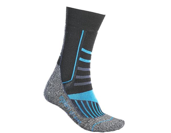 Socks: e.s. Allround socks function warm/high + black/aluminium/royal