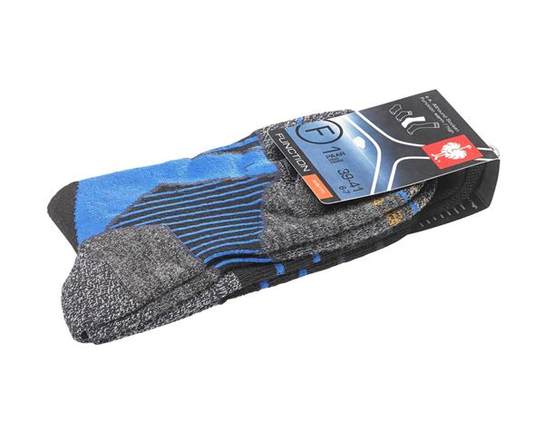 Socks: e.s. Allround socks function warm/high + black/aluminium/royal 1