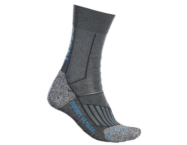 Socken | Strümpfe: e.s. Allround Socken Function cool/high + dunkelgrau melange
