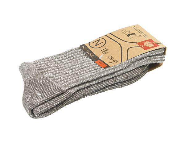 Socken | Strümpfe: e.s.Merinosocken Nature warm/high + terra melange 1