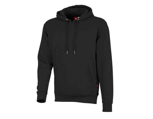 Shirts & Co.: e.s. Hoody-Sweatshirt poly cotton + schwarz