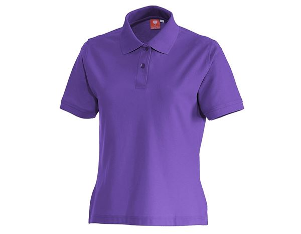 Shirts, Pullover & more: e.s. Polo shirt cotton, ladies' + purple