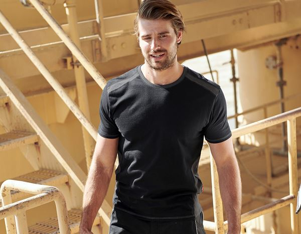 Shirts, Pullover & more: T-shirt cotton e.s.active + black/anthracite