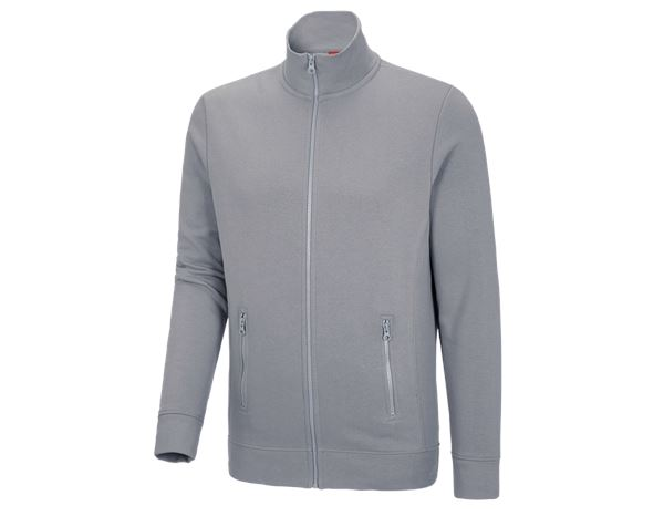 Shirts & Co.: e.s. Sweatjacke poly cotton + platin