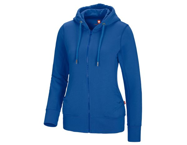 Shirts, Pullover & more: e.s. Hoody sweatjacket poly cotton, ladies' + gentian blue