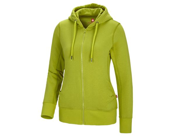Shirts, Pullover & more: e.s. Hoody sweatjacket poly cotton, ladies' + maygreen
