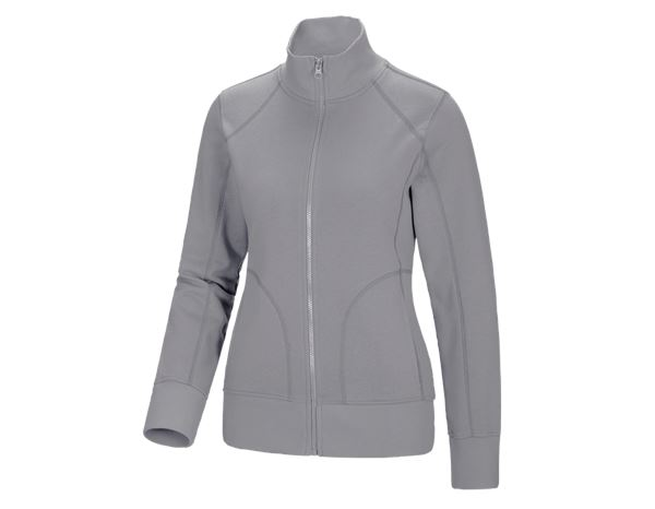 Shirts, Pullover & more: e.s. Sweat jacket poly cotton, ladies' + platinum