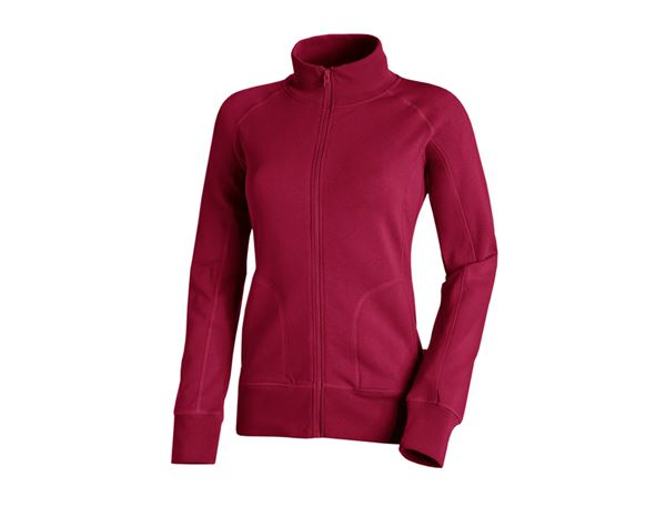 Shirts, Pullover & more: e.s. Sweat jacket poly cotton, ladies' + berry