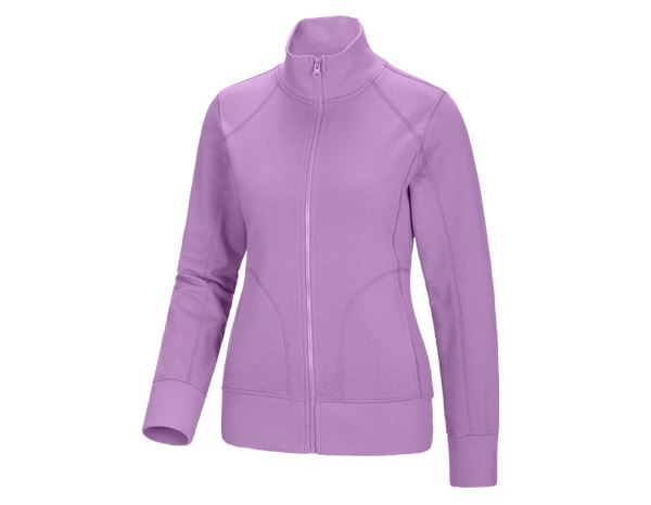 Shirts, Pullover & more: e.s. Sweat jacket poly cotton, ladies' + lavender