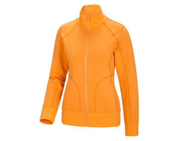 Shirts, Pullover & more: e.s. Sweat jacket poly cotton, ladies' + lightorange
