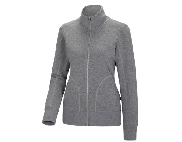 e.s. Sweatjacke poly cotton, Damen beere | engelbert strauss