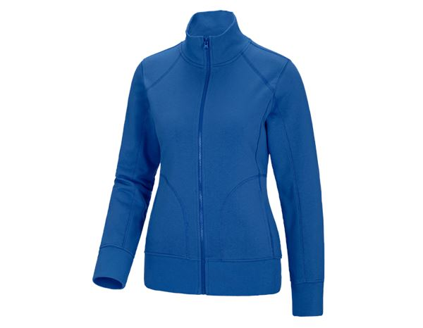 Shirts, Pullover & more: e.s. Sweat jacket poly cotton, ladies' + gentian blue
