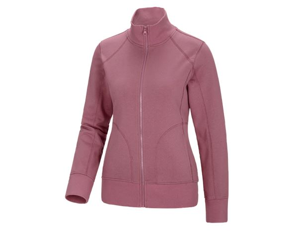 Shirts & Co.: e.s. Sweatjacke poly cotton, Damen + altrosa