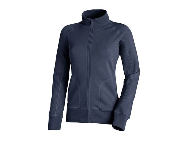 Shirts, Pullover & more: e.s. Sweat jacket poly cotton, ladies' + navy