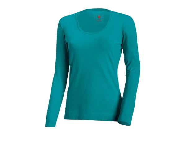 Shirts, Pullover & more: e.s. Long sleeve cotton stretch, ladies' + ocean