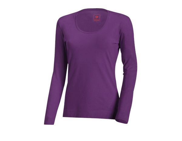Shirts & Co.: e.s. Longsleeve cotton stretch, Damen + violett