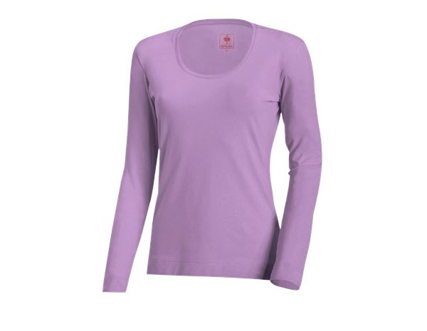 Shirts, Pullover & more: e.s. Long sleeve cotton stretch, ladies' + lavender