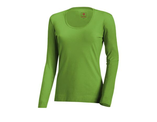 Shirts, Pullover & more: e.s. Long sleeve cotton stretch, ladies' + seagreen