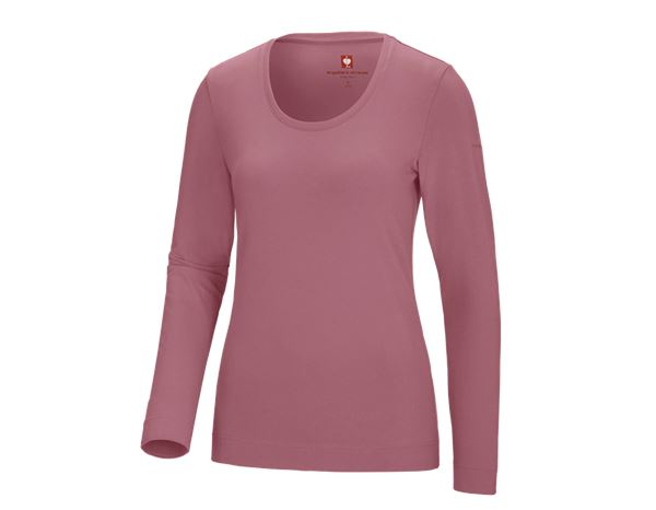 Shirts, Pullover & more: e.s. Long sleeve cotton stretch, ladies' + antiquepink