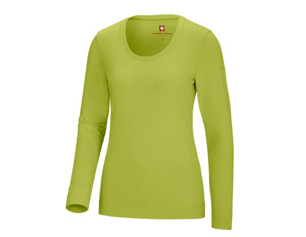 Shirts, Pullover & more: e.s. Long sleeve cotton stretch, ladies' + maygreen