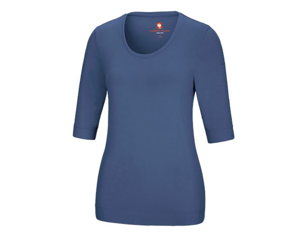 Shirts, Pullover & more: e.s. Shirt 3/4 sleeve cotton stretch, ladies' + cobalt