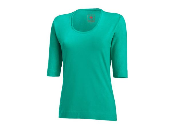 Shirts, Pullover & more: e.s. Shirt 3/4 sleeve cotton stretch, ladies' + lagoon