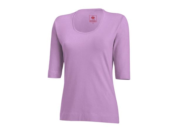 Shirts, Pullover & more: e.s. Shirt 3/4 sleeve cotton stretch, ladies' + lavender