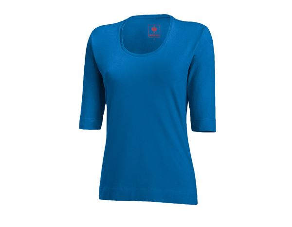 e.s. Shirt 34 sleeve cotton stretch, ladies' gentian blue