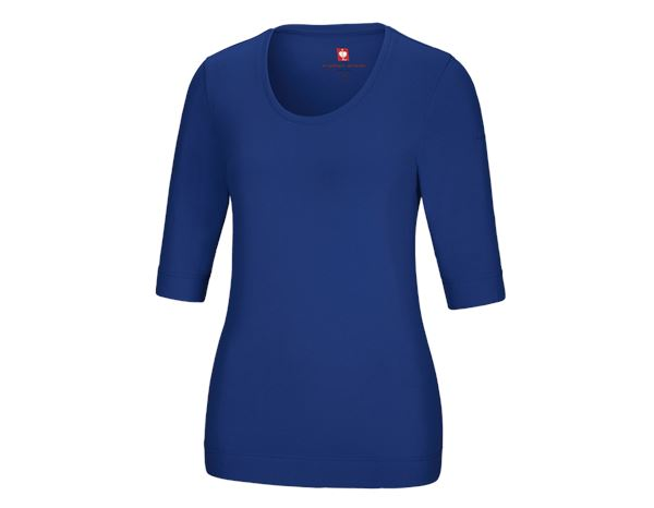 Shirts, Pullover & more: e.s. Shirt 3/4 sleeve cotton stretch, ladies' + royal