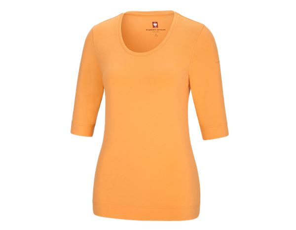 Shirts, Pullover & more: e.s. Shirt 3/4 sleeve cotton stretch, ladies' + lightorange