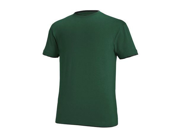 T-Shirts: e.s. T-shirt cotton stretch Layer + green/black