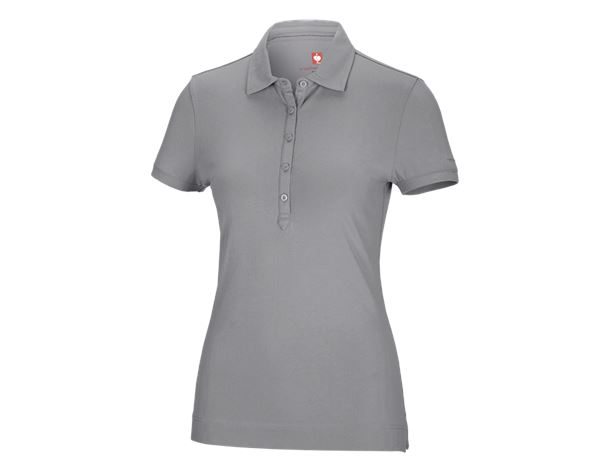 Shirts & Co.: e.s. Polo-Shirt cotton stretch, Damen + platin