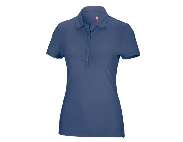 Shirts, Pullover & more: e.s. Polo shirt cotton stretch, ladies' + cobalt