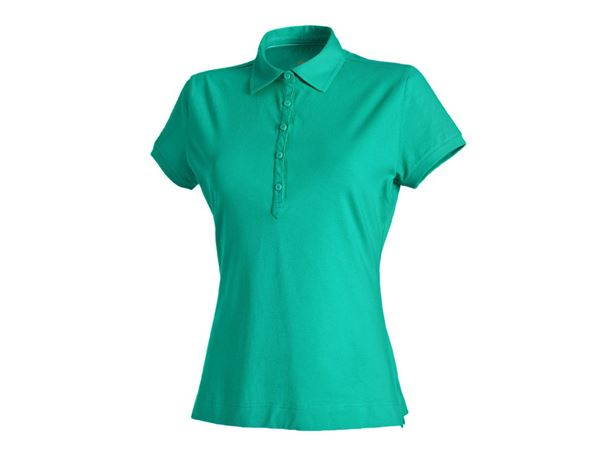 Shirts, Pullover & more: e.s. Polo shirt cotton stretch, ladies' + lagoon