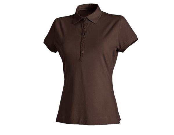 e.s. Polo shirt cotton stretch, ladies' chestnut | engelbert