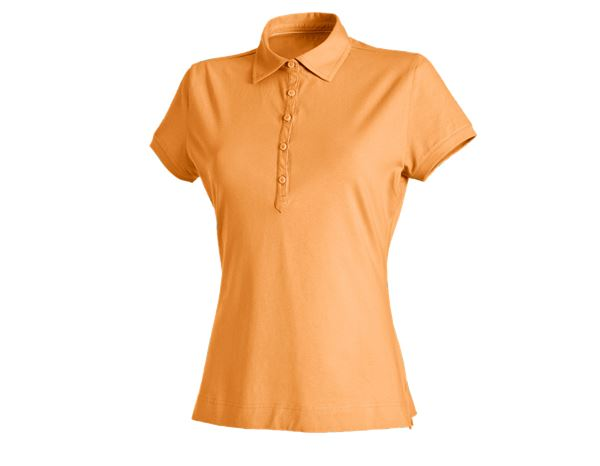 Shirts & Co.: e.s. Polo-Shirt cotton stretch, Damen + hellorange