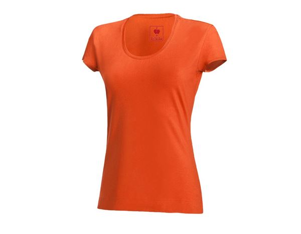 Shirts & Co.: e.s. T-Shirt cotton stretch, Damen + nektarine