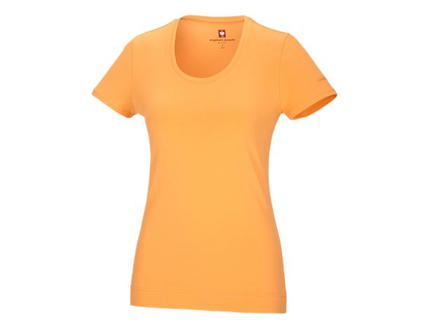 Shirts & Co.: e.s. T-Shirt cotton stretch, Damen + hellorange