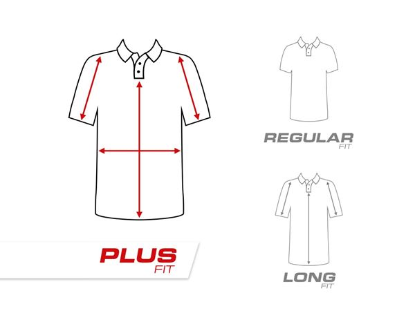 Shirts, Pullover & more: e.s. Pique-Polo cotton stretch, ladies', plus fit + fiery red 1