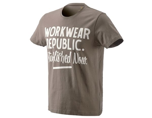 Hauts: e.s. T-Shirt workwear republic + pierre/gypse