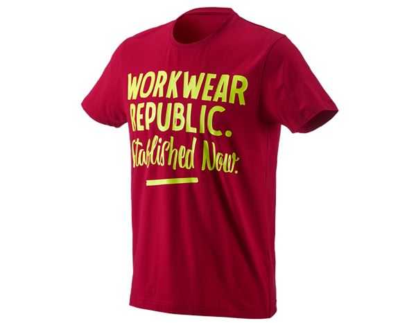 Shirts, Pullover & more: e.s. T-shirt workwear republic + fiery red/high-vis yellow