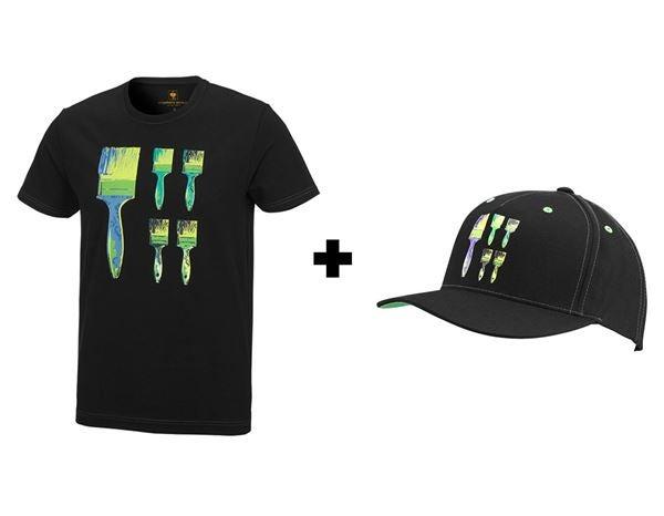 df24620e3ceb Aktion  e.s.T-Shirt Pop Art+GRATIS Cap schwarz victoriagrün cyan ...