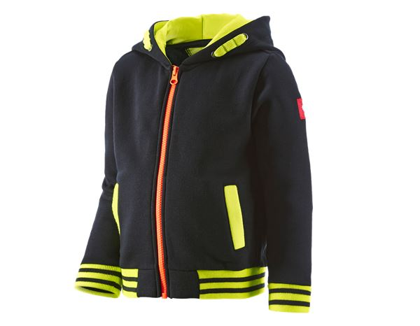 professionelles Design helle n Farbe UK-Shop Hoody-Sweatjacke e.s.motion 2020,Kinder schwarz/warngelb ...