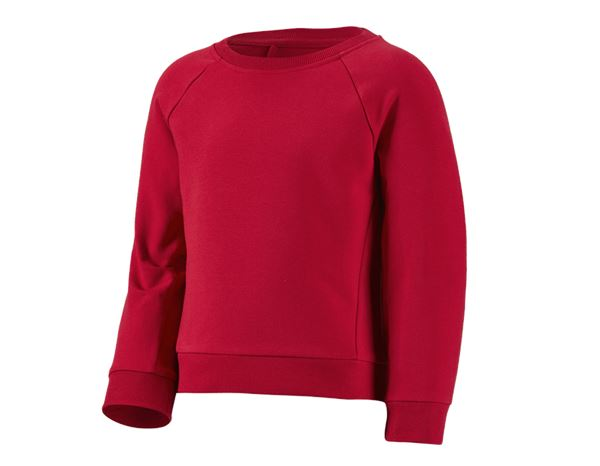 Shirts & Co.: e.s. Sweatshirt cotton stretch, children's + fiery red