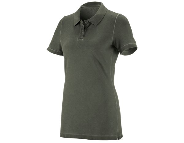 Shirts, Pullover & more: e.s. Polo shirt vintage cotton stretch, ladies' + disguisegreen vintage