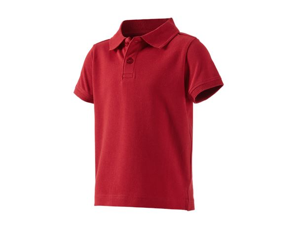Shirts, Pullover & more: e.s. Polo shirt cotton stretch, children's + fiery red