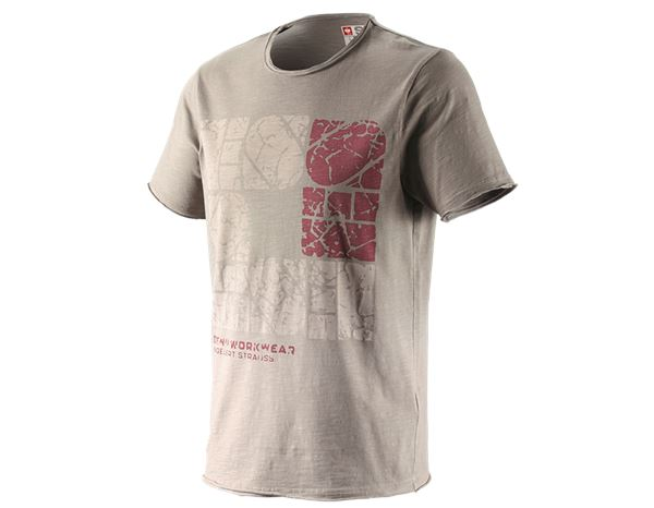 T-Shirts: e.s. T-Shirt denim workwear + taupe vintage